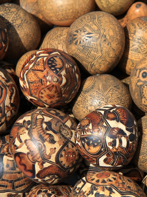 Calabasses-artisanat Péruvien