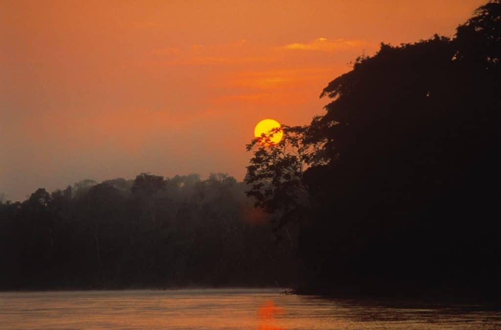 sunset en amazonie