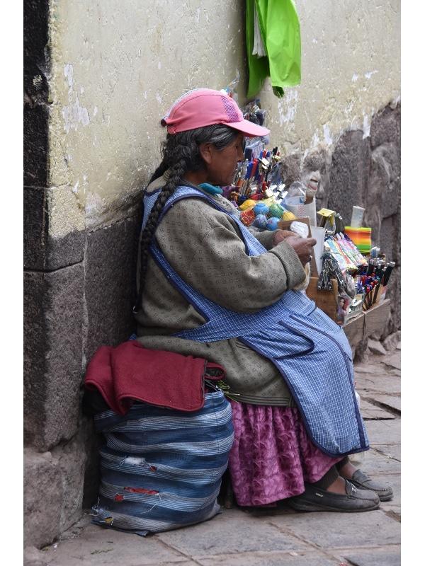 Marchande ambulante Cusco