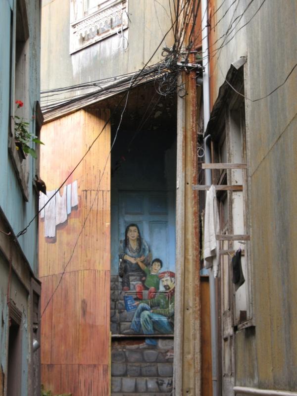 Peintures rues Valaparaiso