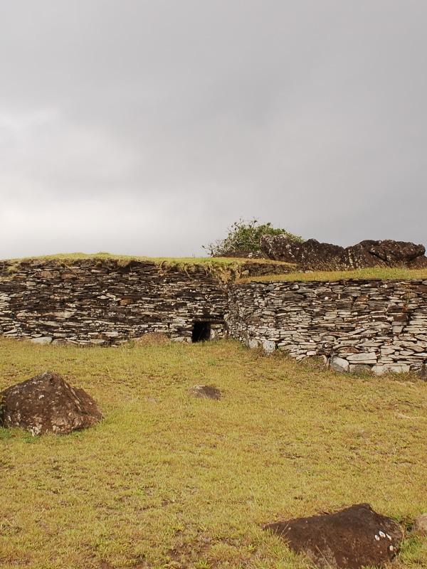 Lieu de Cérémonie Orongo île de Pâques Chili